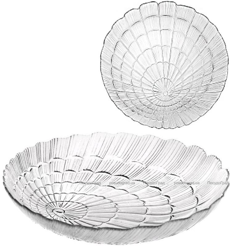 Набор 6 сервировочных тарелок Atlantis Ø22см стеклянные