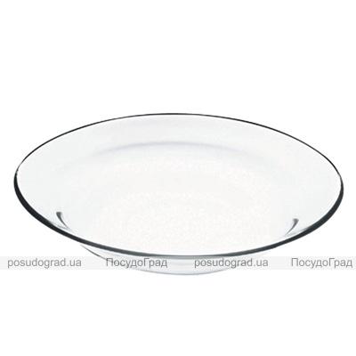 Стеклянная тарелка Invitation Ø22см полупорционная