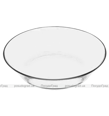 Набор 12 стеклянных тарелок Invitation Ø22см, глубокие