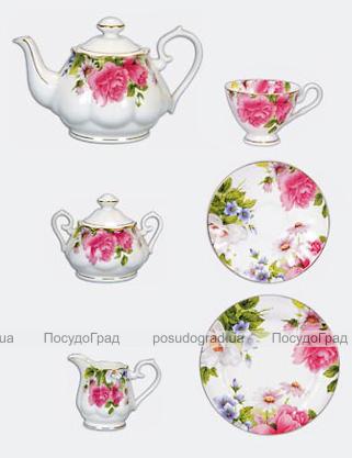 """Чайный набор """"Пионы"""" 21 предмет"""