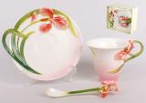 Подарочный набор 3 предмета: чашка 160мл + блюдце + ложка