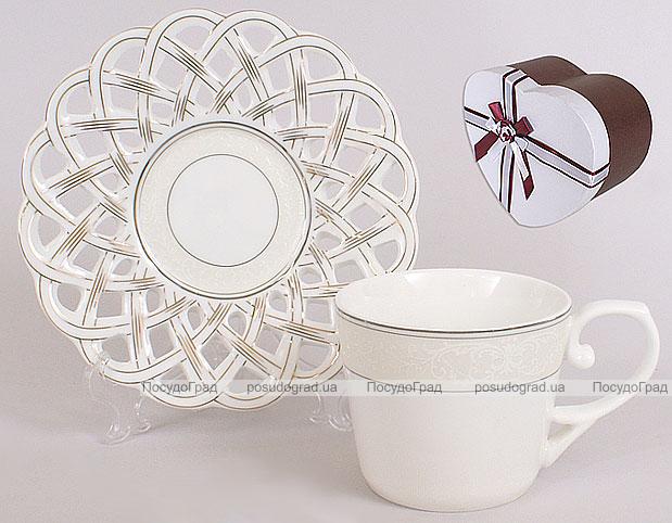 Чайный набор 4 предмета: 2 чашки 160мл + 2 блюдца