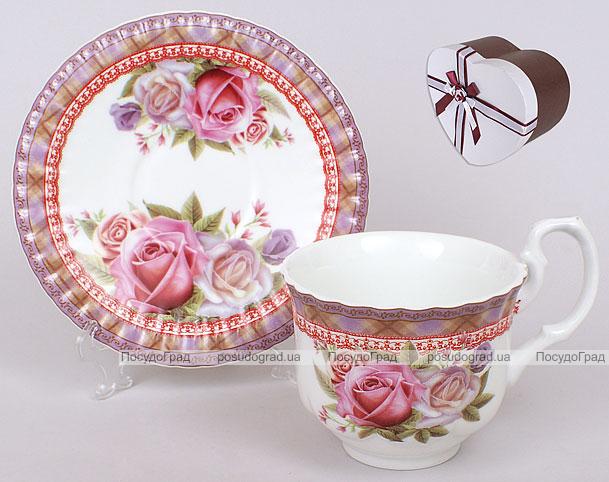 Чайный набор чашка 220мл + блюдце