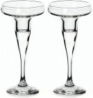 Набір 2 скляних підсвічника Pasabahce Basic 17х8.2см