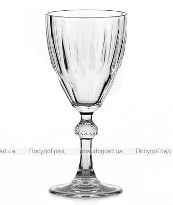 Набор 12 стеклянных фужеров Diamond 245мл для вина