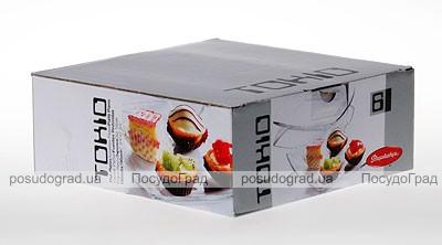 Набор квадратных тарелок Tokio Ø20см 6шт в подарочной упаковке
