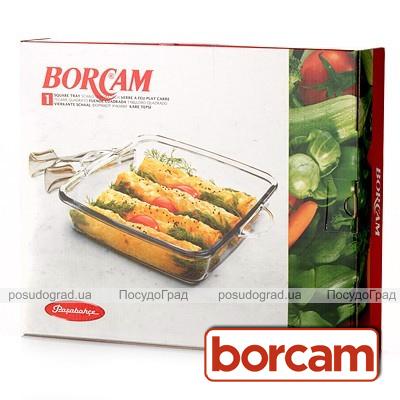 Форма для выпечки квадратная Borcam 27х27х6,5см с ручками