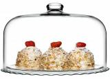Блюдо скляне Patisserie Ø37см зі скляною кришкою-ковпаком