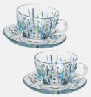 Чайний сервіз WorkShop Blue Bamboo 215мл 12 предметів
