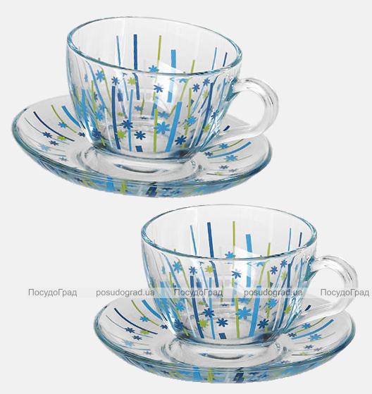 Чайный сервиз WorkShop Blue Bamboo 215мл 12 предметов