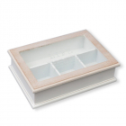 """Коробка-шкатулка """"Life"""" для чаю та цукру, 4 секції, 27х19см"""