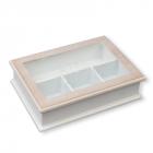 """Коробка-шкатулка """"Life"""" для чая и сахара, 4 секции, 27х19см"""