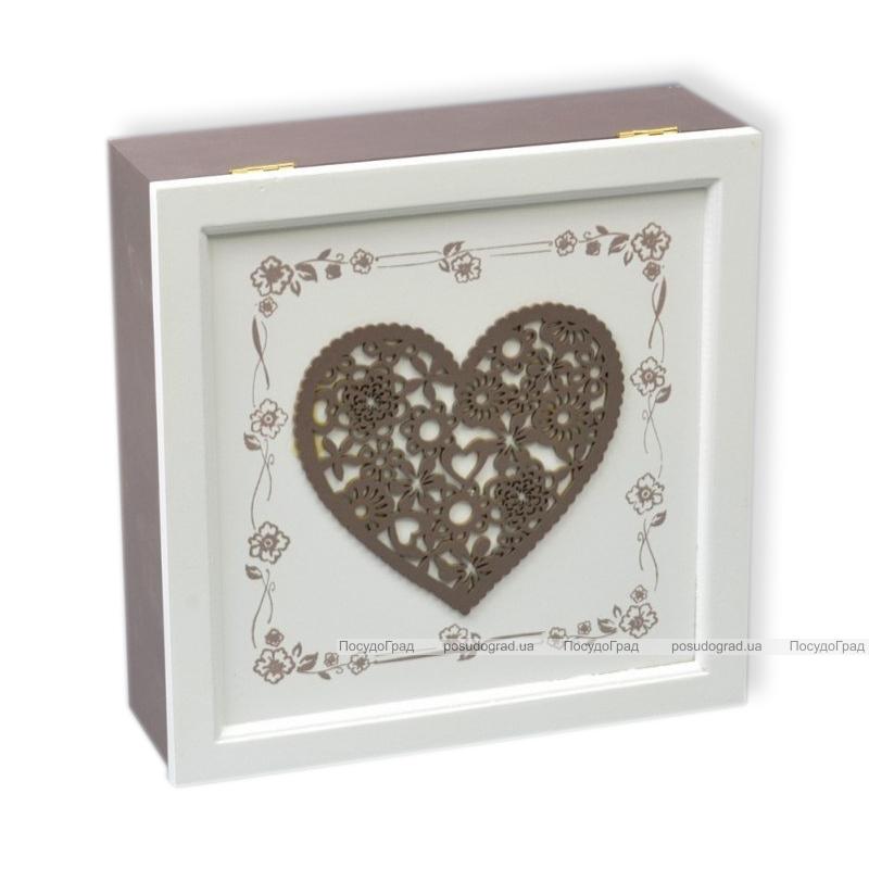 "Коробка-шкатулка ""Threaded Heart"" для чая и сахара, 9 секций, 24х24см"