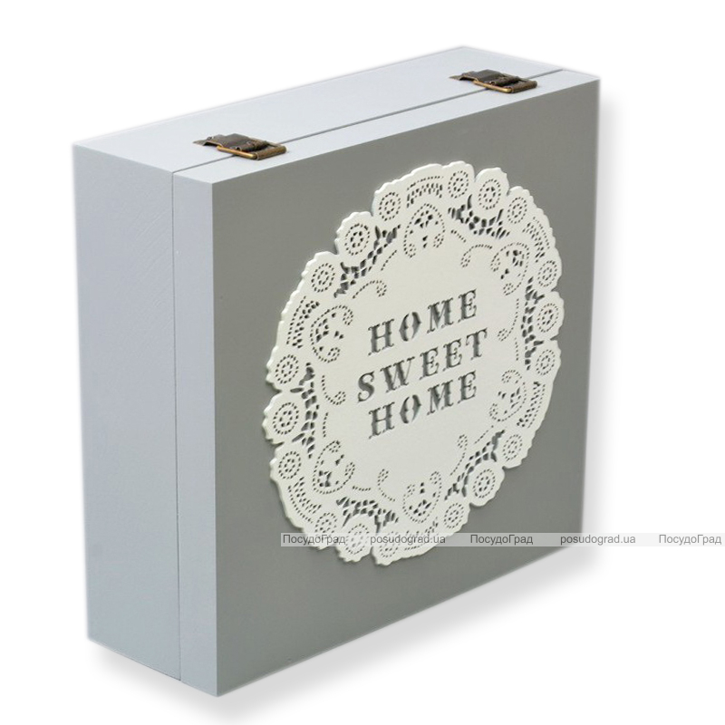 "Коробка-шкатулка ""Home Sweet Home"" для чая и сахара, 9 секций, 24х24см"