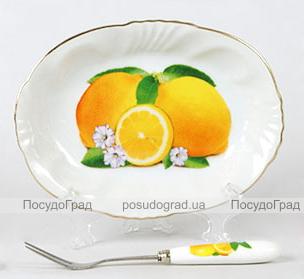 Тарелка для лимона с вилочкой