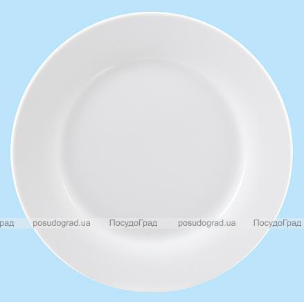Тарелка десертная 19 см круглая Белая, без рисунка