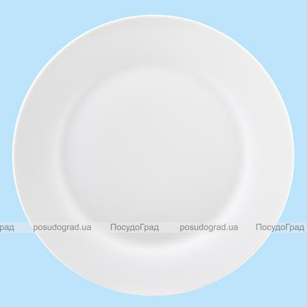 Тарелка столовая мелкая 27см круглая Белая, без рисунка