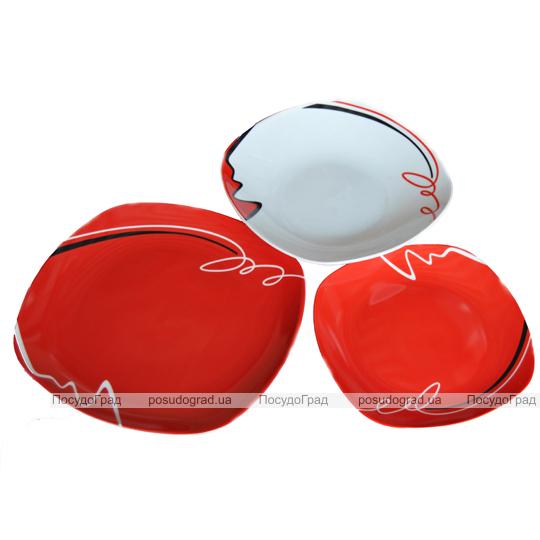 """Набор тарелок """"Red&White"""" 18 предметов"""