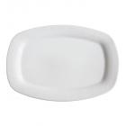 Блюдо сервировочное 25,5см прямоугольное Белое, без рисунка