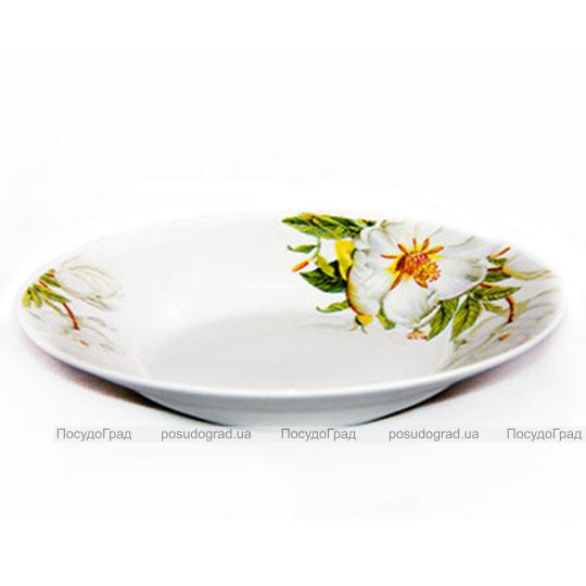 """Тарелка суповая порционная 22,5см круглая """"Жасмин"""""""