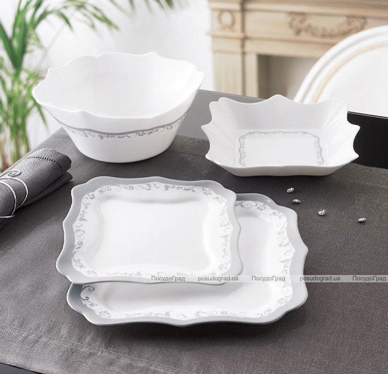 Столовый сервиз Luminarc Authentic Silver на 6 персон 19 предметов