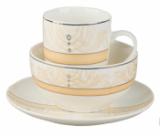 "Набор для завтрака ""De Luxe"" 3 предмета: тарелка 18 см + чашка 320 мл + пиала 500 мл"