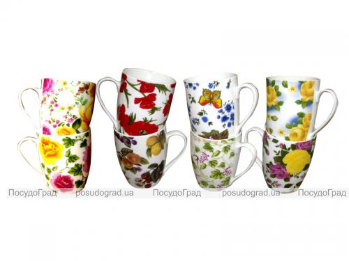 "Чашка ""Цветы и бабочки Микс"" 300 мл"