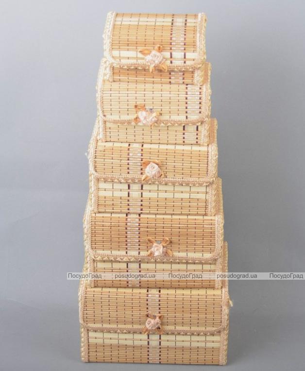 Набор 5 бамбуковых шкатулок ART Bamboo-1B Матрешка