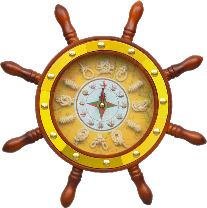 """Часы настенные """"Штурвал"""" Ø30см"""