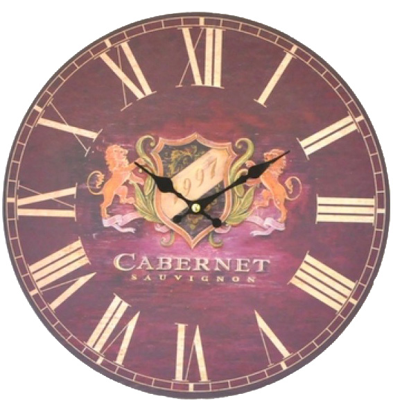 "Часы настенные ""Cabernet Sauvignon"" Ø33.8см"