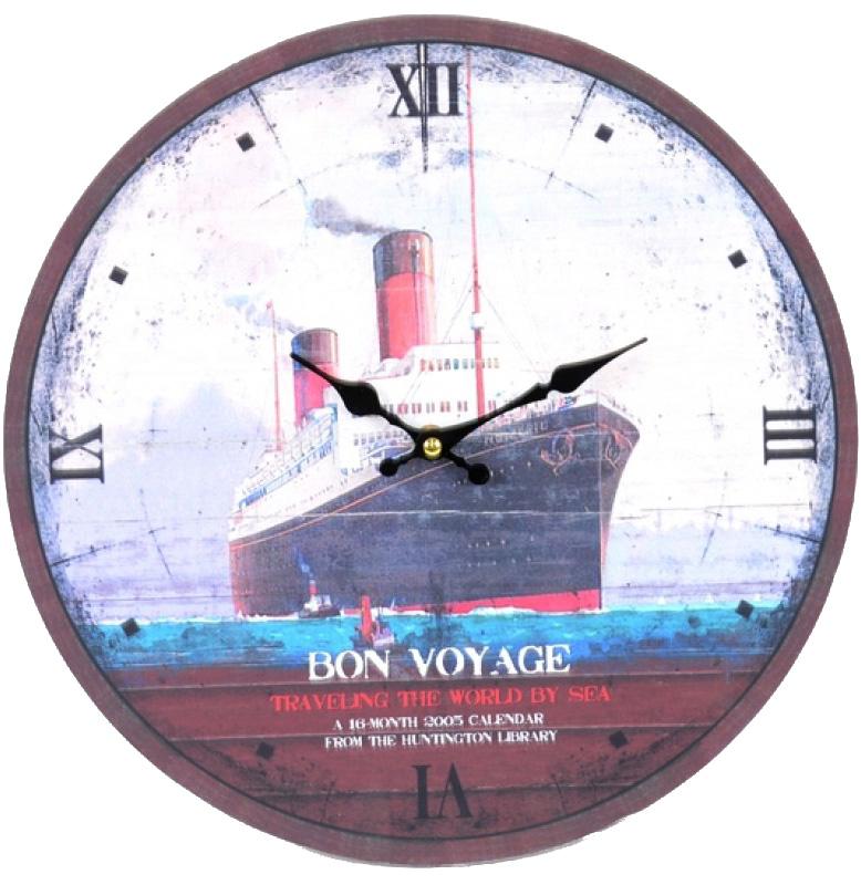 """Часы настенные """"Bon Voyage"""" Ø33.8см"""