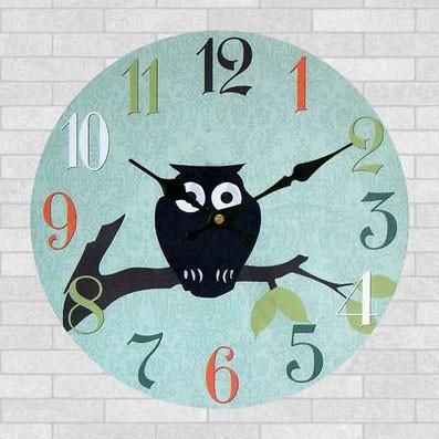 """Часы настенные """"Spring owl"""" Ø28.8см"""
