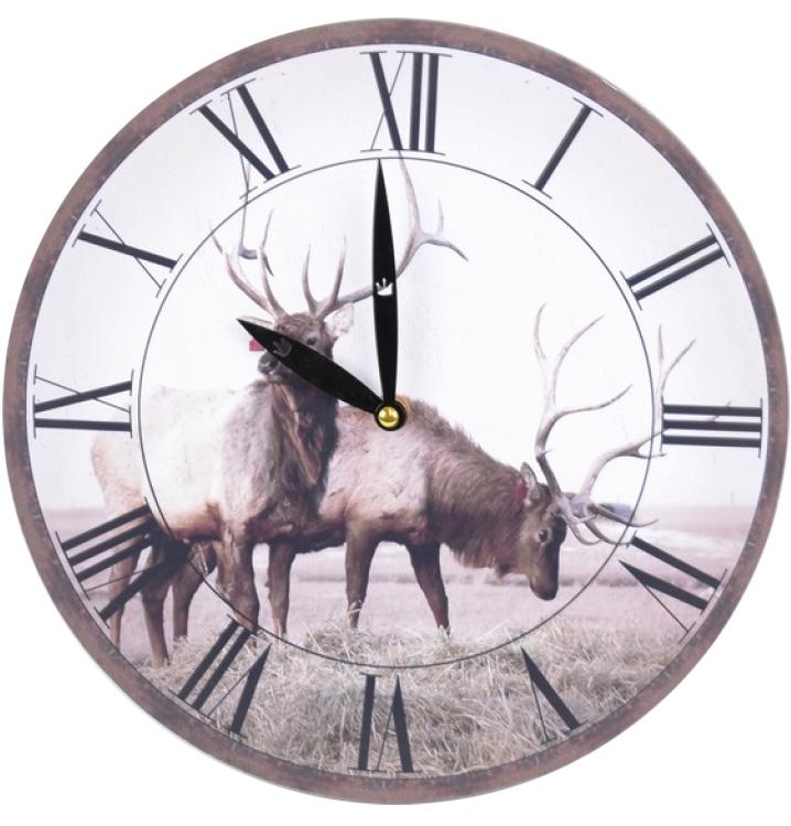 """Часы настенные """"Deer"""" Ø28.8см"""