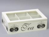 """Коробка-шкатулка """"Medallion around-6"""" для чая и сахара, 6 секций, 16х25см"""