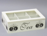 "Коробка-шкатулка ""Medallion around-6"" для чаю та цукру, 6 секцій, 16х25см"