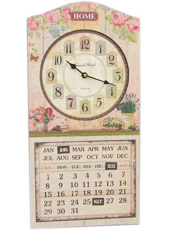 """Часы настенные """"Grand Hotel"""" с календарем 50x25см"""
