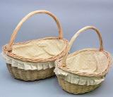 Набор 2 плетеные корзины Кокетка