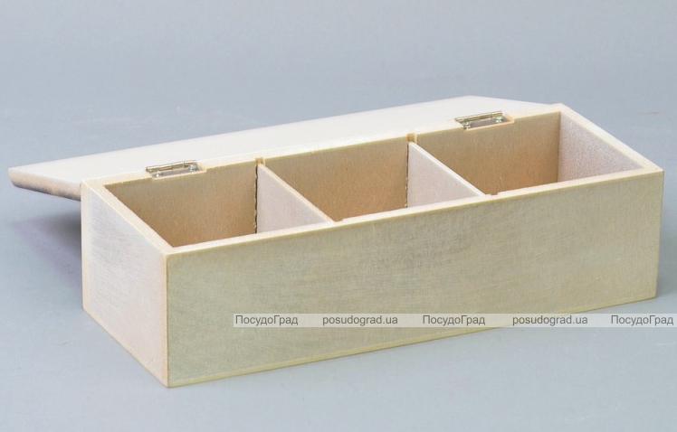 """Коробка-шкатулка """"Voyage London"""" для чая и сахара, 3 секции, 9х24см"""