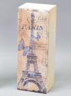"Коробка-шкатулка ""Voyage Paris"" для чая и сахара, 3 секции, 9х24см"