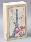 """Коробка-шкатулка """"Paris Poppy"""" для чаю та цукру, 6 секцій, 15х24см"""