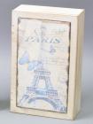 """Коробка-шкатулка """"Paris Butterfly"""" для чаю та цукру, 6 секцій, 15х24см"""