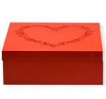 "Коробка-шкатулка ""Red Heart"" для чая и сахара, 9 секций, 20х20см"