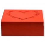 "Коробка-шкатулка ""Red Heart"" для чаю та цукру, 9 секцій, 20х20см"