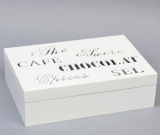 "Коробка-шкатулка ""Chocolate White"" для чая и сахара, 6 секций, 16х24см"