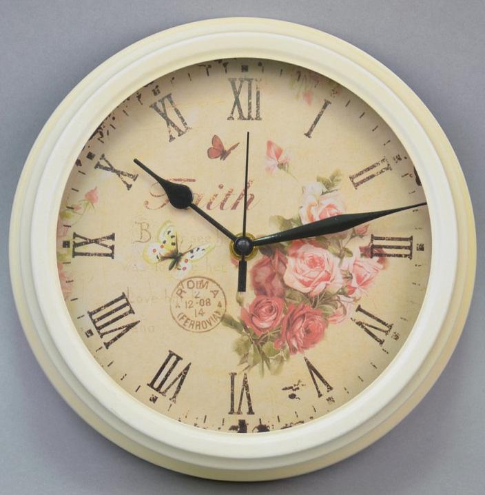 """Часы настенные """"Faith"""" 23x8см белые"""