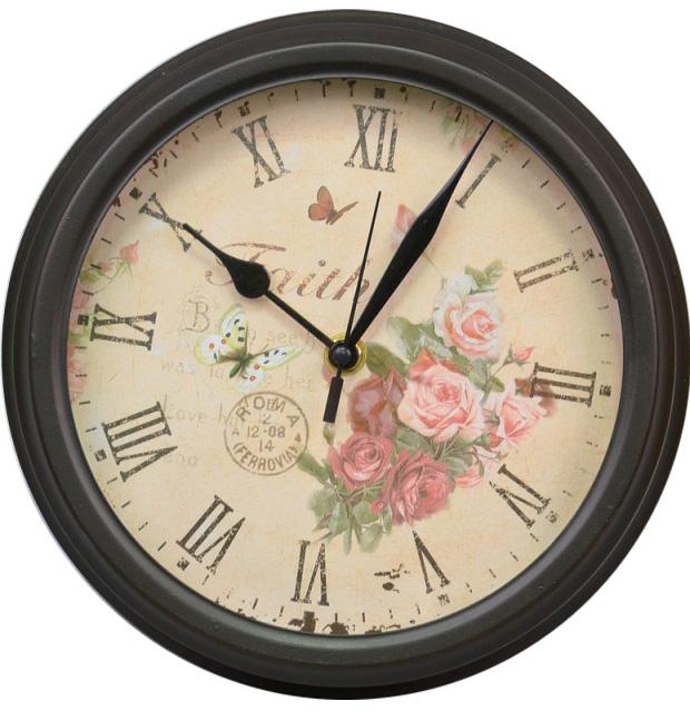 """Часы настенные """"Faith"""" 23x8см коричневые"""