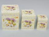 """Набор """"Lavender"""" 3 прямоугольные емкости для сыпучих"""