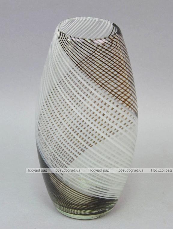 Ваза стеклянная Fantasy Спираль Овал 30см