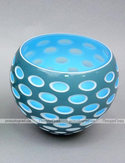 Ваза стеклянная Motley Lebes 15см Голубая