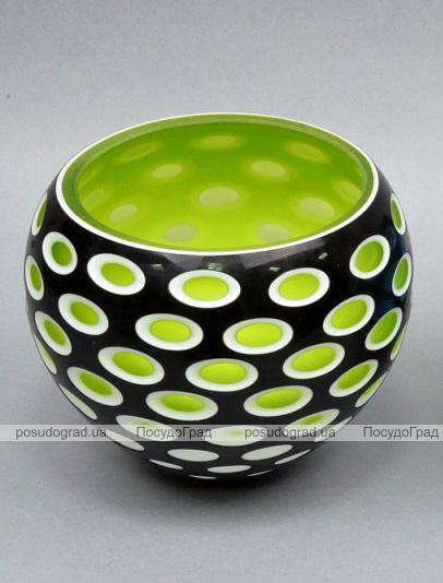Ваза стеклянная Motley Lebes 15см Зеленая